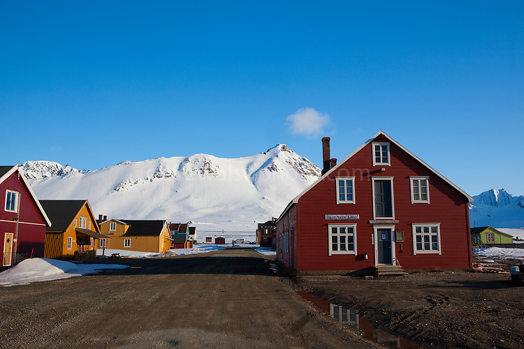 The international scientific research base of Ny Alesund, Svalbard.