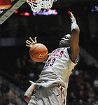 "Ole Miss' Reginald Buckner (23) dunks vs. McNeese State at the C.M. ""Tad"" Smith Coliseum in Oxford, Miss. on Tuesday, November 20, 2012. .."