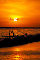 Sunset celebration at Ka'anapali Beach, Maui.