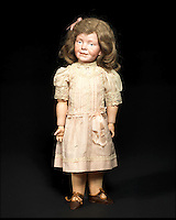 BNPS.co.uk (01202 558833)<br /> Pic: Bonhams/BNPS<br /> <br /> ***Please Use Full Byline***<br /> <br /> An extremely rare k&auml;mmer &amp; reinhardt 104 bisque head character doll.<br /> &pound;15,000 - 20,000<br /> <br /> A creepy collection of almost 100 'lifelike' dolls modelled on children has emerged for sale with a whopping half a million pounds price tag. <br /> <br /> The eerie-looking toys were made in Germany in the early 20th century as dollmakers strived to produce dolls with realistic human features.<br /> <br /> The collection of 92 dolls, which includes some of the rarest ever made, has been pieced together by a European enthusiast over the past 30 years.<br /> <br /> It is expected to fetch upwards of &pound;500,000 when it goes under the hammer at London auction house Bonhams tomorrow (Weds).