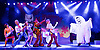 Scooby-Doo! Live Musical Mysteries <br /> at The Palladium, London, Great Britain <br /> press photocall <br /> 17th August 2016 <br /> <br /> <br /> Joe Goldie as Scooby-Doo <br /> Charlie Bull as Daphne <br /> Chris Warner Drake as Fred <br /> Rebecca Withers as Velma<br /> Charlie Haskins as Shaggy <br /> <br /> Photograph by Elliott Franks <br /> Image licensed to Elliott Franks Photography Services