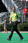 02 October 2016: Assistant Referee Grant Hundley. The Duke University Blue Devils hosted the Boston University Terriers at Jack Katz Stadium in Durham, North Carolina in a 2016 NCAA Division I Field Hockey match. Duke won the game 2-1.