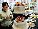 February 9, 2012, Tokyo, Japan - Sugar cakes looking as fresh as they are made some 15 years ago are on display in the Tokyo International Gift show at the Big Sight in Tokyo on Thursday, February 9, 2012. A total of 2,500 companies, including 220 from 22 foreign countries and regions, showcased three million amazing new products during the three-day exhibition. (Photo by Natsuki Sakai/AFLO) AYF -mis-