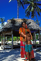 Family in northwestern Savaii, Western Samoa