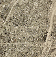 historical aerial photograph El Monte, Los Angeles county, California, 1948