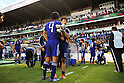 (L-R) Naomichi Ueda, Fumiya Hayakawa (JPN),JULY 3, 2011 - Football :Fumiya Hayakawa of Japan consoles his teammate Naomichi Ueda after the 2011 FIFA U-17 World Cup Mexico Quarterfinal match between Japan 2-3 Brazil at Estadio Corregidora in Queretaro, Mexico. (Photo by AFLO)