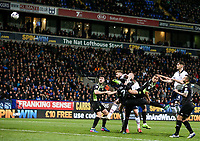 Bolton Wanderers' Mark Beevers heads just wide from a corner<br /> <br /> Photographer Alex Dodd/CameraSport<br /> <br /> The EFL Sky Bet League One - Bolton Wanderers v Bury - Tuesday 18th April 2017 - Macron Stadium - Bolton<br /> <br /> World Copyright &copy; 2017 CameraSport. All rights reserved. 43 Linden Ave. Countesthorpe. Leicester. England. LE8 5PG - Tel: +44 (0) 116 277 4147 - admin@camerasport.com - www.camerasport.com