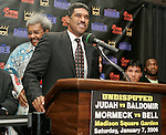 Madison Square Garden President Steve Mills at the presser announcing the Zab Judah vs Carlos Baldomir and Jean-Marc Mormeck fights.  The fights will take place at the Theater at Madison Square Garden on January 7, 2005.