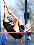SEYMOUR CT. 18 April 2017-041817SV05-Danielle Rossi of Oxford High attempts 5.4 feet during NVL track action at Seymour High in Seymour Tuesday.<br /> Steven Valenti Republican-American