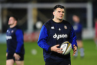 David Sisi of Bath Rugby looks on during the pre-match warm-up. Anglo-Welsh Cup match, between Bath Rugby and Gloucester Rugby on January 27, 2017 at the Recreation Ground in Bath, England. Photo by: Patrick Khachfe / Onside Images