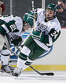 Pat Guerriero (Babson - 24) - The Norwich University Cadets defeated the Babson College Beavers 4-1 on Friday, January 13, 2011, at Fenway Park in Boston, Massachusetts.