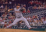 6 August 2016: San Francisco Giants pitcher George Kontos on the mound against the Washington Nationals at Nationals Park in Washington, DC. The Giants defeated the Nationals 7-1 to even their series at one game apiece. Mandatory Credit: Ed Wolfstein Photo *** RAW (NEF) Image File Available ***