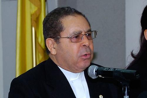 Agripino Núñez Collado, monseñor, coordinador de la Comisión de Investigación designada por Danilo Medina