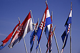 Fahnen der Republik Kroatien - Zastava Republika Hrvatska - Flags of the Republic of Croatia