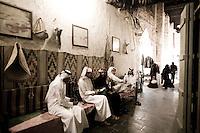 Qatar - Doha - Qataris having dinner in the souk