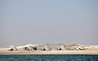 A luxury beach camp on the coast of Oman organised by Hud Hud Travels