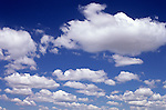 Cumulus clouds in blue sky on a bright sunny day