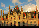 Provincial Palace at Sunset, Market Square, Bruges, Brugge, Belgium