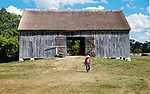 A collection of Barns that still can be seen while traveling the countryside in  the beautiful State of Wisconsin.<br /> Threshing Barn hewn Timbers, Kruza. Old World Wisconsin.