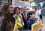 Ethan Berkowitz & family municipal election night april 7, 2015 in Anchorage, Alaska.