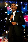 Washington, DC - January 20, 2009 -- United States President Barack Obama attends the Neighborhood Inaugural Ball at the Washington Convention Center on January 20, 2009 in Washington, DC. Obama became the first African-American to be elected to the office of President in the history of the United States..Credit: Chip Somodevilla - Pool via CNP