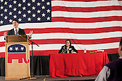 February 16, 2012. Raleigh, NC.. Former Charlotte mayor Pat McCrory, who is running for governor, gave the keynote address..  The North Carolina Republicans held their 2012 Precinct Meeting at Dorton Arena with former Charlotte mayor Pat McCrory as the key note speaker.