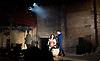 Carmen Disruption <br /> at Almeida Theatre, London, Great Britain <br /> press photocall<br /> 16th April 2015 <br /> <br /> <br /> <br /> John Light as Escamillo <br /> <br /> Viktoria Vizin as The Chorus <br /> <br /> <br /> <br /> Photograph by Elliott Franks <br /> Image licensed to Elliott Franks Photography Services