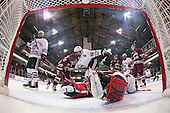 Anthony Bitetto (Northeastern - 7), Brian Gibbons (BC - 17), Luke Eibler (Northeastern - 20), Chris Rawlings (Northeastern - 37), Cam Atkinson (BC - 13), Mike McLaughlin (Northeastern - 18) - The Northeastern University Huskies defeated the visiting Boston College Eagles 2-1 on Saturday, February 19, 2011, at Matthews Arena in Boston, Massachusetts.