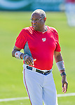 28 February 2016: Washington Nationals Manager Dusty Baker leaves the field after an inter-squad pre-season Spring Training game at Space Coast Stadium in Viera, Florida. Mandatory Credit: Ed Wolfstein Photo *** RAW (NEF) Image File Available ***