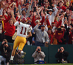 075551.SP.0101.RoseBowl.8.RSH January 1, 2004 - Pasadena, CA -- USC's Matt Leinert scores a touch down in the third quarter to the delight of the USC fans.USC Trojans vs the Michigan Wolverines in the 90th annual Rose Bowl game in Pasadena California.