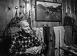 """December 1971:  Modesto, California—Dad Walkling—Dad loved to tell stories how the old west really was like.  I first met Orlando """"Dad"""" Walkling at his house in the airport district of Modesto just before his 104th birthday.  Walkling was born in Indian Territory January 2, 1868, near a town now called McAlester, Oklahoma.  His mother was Shawnee and his father, whom he didn't remember, was an Englishman named Orlando.  He later used the name Walkling instead of his Indian name of Skipocase.  On September 16, 1893, Skipocase O. Walkling, then 25 years old, was among thousands of settlers who rode into the Cherokee Strip Land Run of Oklahoma to make a free land claim.  Walkling told of how he rode into the 226-mile long """"Strip"""" to claim 160 acres.  """"There were thousands of men who waited at the line until noon that day.  The army gun was fired and chaos broke out. Every man carried a gun. There was no law, no sheriff, nothing.  People had to fight for their claim even though they were first.""""  Walkling made a claim, but later gave it up when he had a chance to farm a piece of land in Noble County, Oklahoma.  He cleared the land with six yoke of oxen and planted peach orchards.  He and his first wife ran a combination grocery store and hotel there.  He had nearly 1,000 trees and began a cannery to process the crops.  """"One day when the train came in a woman dressed like a Salvation Army woman handed me a bundle as I stood on the ramp, then she jumped back into the train.  I opened it and there was a pair of twins, a boy and a girl,"""" Walkling said.  He and his wife did not have children, so they adopted the twins legally and raised them.  He said they raised six others but did not adopt them.  He came to Modesto in 1944 at 76 years of age and went to work for a meat firm before he opened a poultry store.  After that store closed, he made bullwhips and wove rope for truckers at his home.  In 1968, Dad Walking, then 100 years old, visited Oklahoma for the 75th a"""
