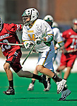 23 March 2008: University of Vermont Catamounts' Andrew Holden, a Senior from Glastonbury, CT, in action against the Bellarmine University Knights at Moulton Winder Field, in Burlington, Vermont. The Catamounts defeated the visiting Knights 9-7 at the Vermont home opener...Mandatory Photo Credit: Ed Wolfstein Photo