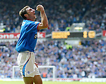 Shota Arveladze celebrates scoring against Dundee at Ibrox in 2003
