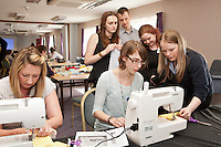 Staff experienced an unsual induction training day for the soon to be opened Derby Hobbycraft store. Pictured right VIP Manager Fiona Kernohan trains staff