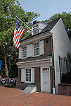 Betsy Ross House, exterior..Philadelphia, Pennsylvania, PA USA.  Photo copyright Lee Foster, 510-549-2202, lee@fostertravel.com, www.fostertravel.com.  Photo 273-30239