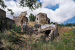 Photo shows the crumbled remains of the village of Gibellina in the northwestern part of Sicily, Italy, which was destroyed by an earthquake in 1968. The village remains as it was, while a new, ultra-modernist town was constructed for surviving residents 10 km away.
