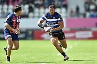 Robbie Fruean of Bath Rugby in possession. European Rugby Challenge Cup Semi Final, between Stade Francais and Bath Rugby on April 23, 2017 at the Stade Jean-Bouin in Paris, France. Photo by: Patrick Khachfe / Onside Images