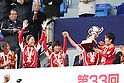 INAC Kobe Leonessa team group,.JANUARY 1, 2012 - Football / Soccer :.(L-R) Emi Nakajima, Homare Sawa, Ji So-Yun, Asuna Tanaka and Miwa Yonetsu of INAC Kobe Leonessa celebrate with the trophy during the award ceremony after winning the 33rd All Japan Women's Football Championship final match between INAC Kobe Leonessa 3-0 Albirex Niigata Ladies at National Stadium in Tokyo, Japan. (Photo by Toshihiro Kitagawa/AFLO)