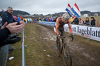 Mathieu Van der Poel (NED/Beobank-Corendon) in the last lap<br /> <br /> Elite Men's Race<br /> UCI 2017 Cyclocross World Championships<br /> <br /> january 2017, Bieles/Luxemburg