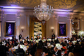 United States President Barack Obama makes remarks before exchanging toasts during a state dinner honoring Prime Minister Justin Trudeau and Mrs. Sophie Gr&eacute;goire Trudeauat of Canada at the White House March 10, 2016 in Washington, DC.  <br /> Credit: Olivier Douliery / Pool via CNP