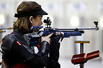 COLUMBUS, OH - MARCH 11:  Nina Radulovic, of the University of Nebraska, competes during the Division I Rifle Championships held at The French Field House on the Ohio State University campus on March 11, 2017 in Columbus, Ohio. (Photo by Jay LaPrete/NCAA Photos via Getty Images)