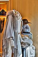 Loro Piana, Rodeo Drive,business, dresswear, Beverly Hills, CA, Luxury Shopping, Window Display, , Vertical image