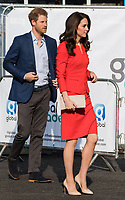 HAYES, UNITED KINGDOM - APRIL 20: Prince Harry &amp; Catherine, Duchess of Cambridge  attends the official opening of The Global Academy in support of Heads Together on April 20, 2017 in Hayes, England. <br /> CAP/JOR<br /> &copy;JOR/Capital Pictures