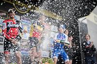 champaign shower at the 101th Ronde Van Vlaanderen 2017 (1.UWT)<br /> 1day race: Antwerp &rsaquo; Oudenaarde - BEL (260km)