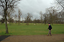 Old man with a french barret walking in Hyde Park. London, United Kingdom, 2007