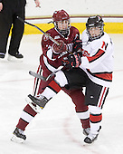Liza Ryabkina (Harvard - 3), Katie MacSorley (NU - 3) - The Harvard University Crimson defeated the Northeastern University Huskies 4-3 (SO) in the opening round of the Beanpot on Tuesday, February 8, 2011, at Conte Forum in Chestnut Hill, Massachusetts.