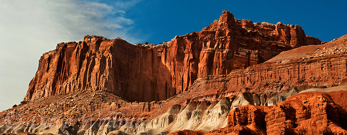 908000009 panoramic sandstone formations and the fluted wall in capitol reef national park utah united states