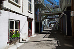 Rue Sous-le-Cap, thought to be one of the oldest and narrowest street in North America is situated below Rue Des Remparts in the Basse-Ville district of Old Quebec, Quebec, Canada
