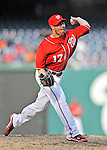 2 April 2011: Washington Nationals pitcher Sean Burnett in action against the Atlanta Braves at Nationals Park in Washington, District of Columbia. The Nationals defeated the Braves 6-3 in the second game of their season opening series. Mandatory Credit: Ed Wolfstein Photo