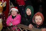 Lara King with Liam and Sean Flynn at the Arrival of Santa and the turning on of the Christmas Lights in Dunleer...(Photo credit should read Jenny Matthews www.newsfile.ie)....This Picture has been sent you under the conditions enclosed by:.Newsfile Ltd..The Studio,.Millmount Abbey,.Drogheda,.Co Meath..Ireland..Tel: +353(0)41-9871240.Fax: +353(0)41-9871260.GSM: +353(0)86-2500958.email: pictures@newsfile.ie.www.newsfile.ie.